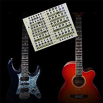 musicone diapasón marcadores Inlay adhesivo adhesivos para guitarra eléctrica acústica: Amazon.es: Instrumentos musicales