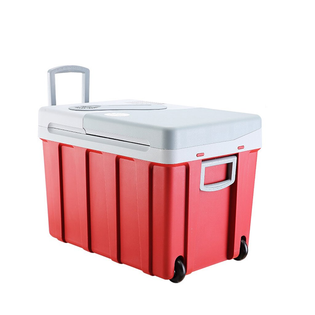 PeaceipUS Car Portable Refrigerator -40L Compact Refrigerator Holds 60 x 330ml Cans |(Red)