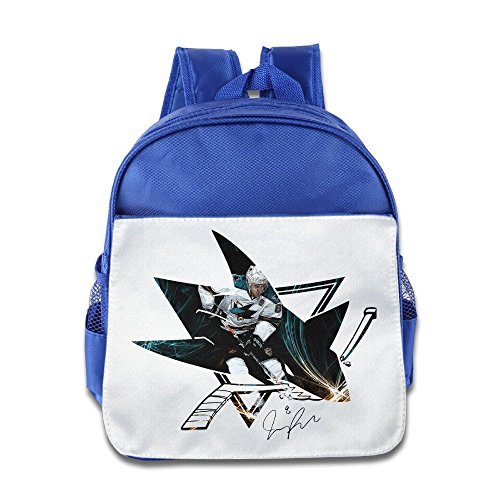 Price comparison product image Jade Custom Personalized Joe 8 Pavelski Ice Hockey Kids Children School Bag For 1-6 Years Old RoyalBlue