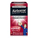Airborne Vitamin C 1000mg Immune Support Supplement, Chewable Tablets, Berry, 64 Count