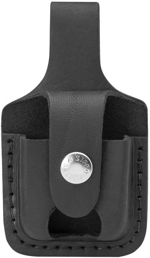 Zippo Pouch Black Bolsa de Cuero, Piel, 3.5x1x5.5 cm