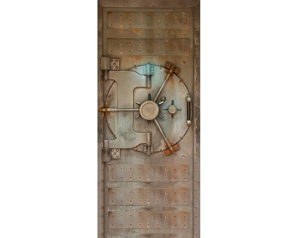 Awallo Dekopanel Motiv «Tresor» in den Farben Beige, Braun   Fototapete in 91x211cm auf selbstklebender Folie   Made in Germany – einfache und schnelle Verarbeitung