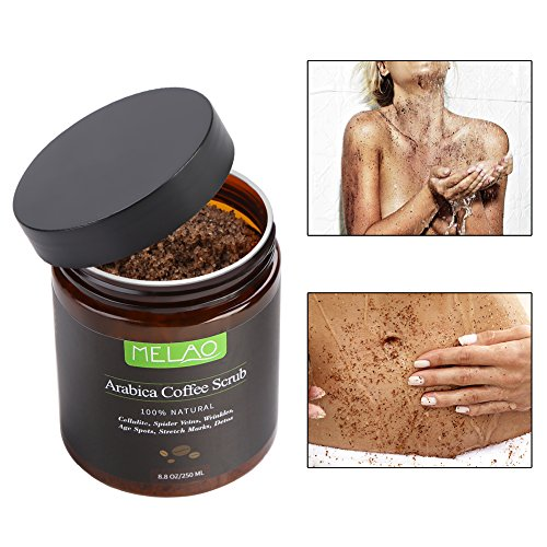 Filfeel Body Scrub, Exfoliante Natural Arabica Coffee Exfoliating para blanquear Las estrías Anti-Celulitis hidratantes, el...