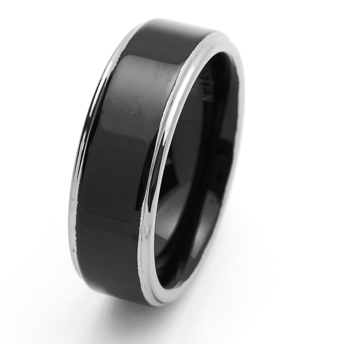 Personalized Inside Engraving Tungsten Carbide Wedding Band Ring 8mm Flat Ring