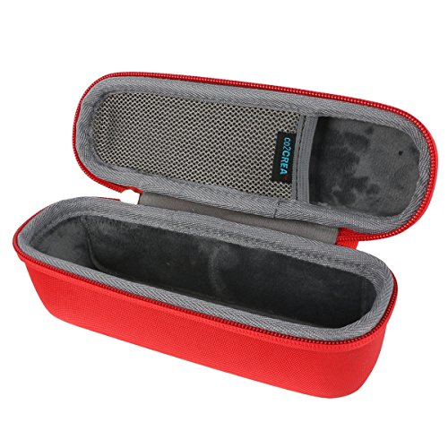 for Anker SoundCore 1 / 2 Portable Outdoor Sports bluetooth speaker Hard Travel Carrying Case Bag by co2CREA, Red