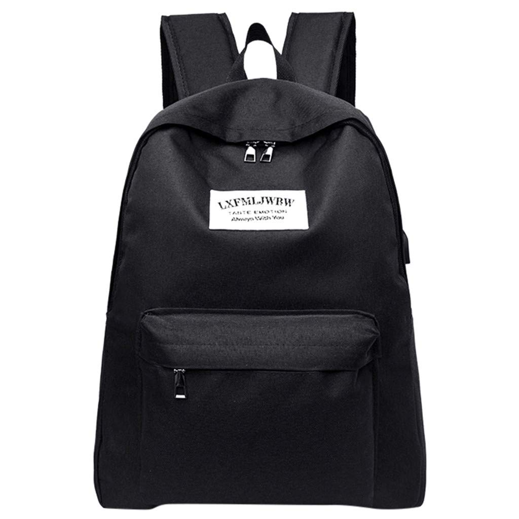 Backpack For Women Male and Female Student Bag Portable Charging Canvas Computer Bag Travel Bag