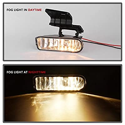 AUTOSAVER88 Fog Lights 880 12V 27W Halogen Lamp Compatible with Chevy Silverado 1999-2002 Suburban 2000-2006 Chevy Tahoe 2000-2006 (Clear Lens w/Bulbs): Automotive