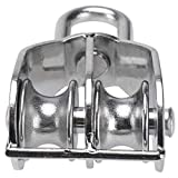 Erfo 2 Pack Double Pulley Block,Hanging Wire Pulley