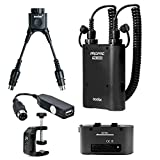 Godox Propac 4500mAh PB960 Flash Power Battery Pack Kit with Dual Output for Godox AD360 AD180 Flash, Canon 580EX II, 580EX, 550EX, Nikon SB-900 SB-800 SB-80DX, SONY HVL-F58AM HVL-F43AM, Metz Flash,includes:(1)Black PB960 Battery Kit+(1)Pb960 Black Standb