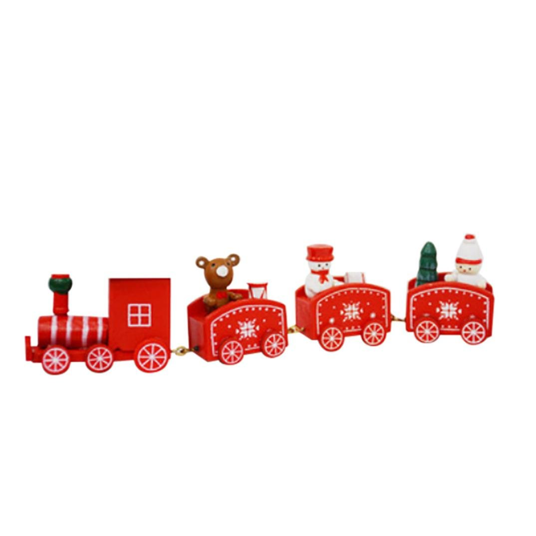 Christmas Wooden Car Decoration, BURFLY Small Train Child Christmas Gift Desktop Home