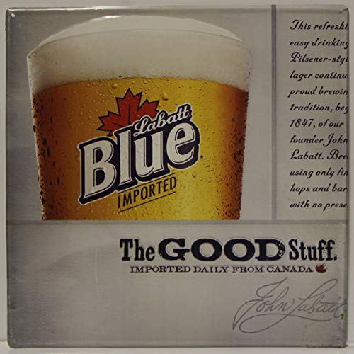 Labatt Blue Metal Sign The Good Stuff Imported Daily, used for sale  Delivered anywhere in USA