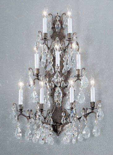 Bronze Antique Sconce Versailles - Classic Lighting 9003 AB S Versailles, Crystal, Sconce/WallBracket, Antique Bronze