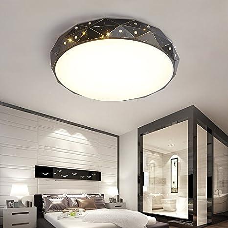 Acogedor, romántico, dormitorio, mesas de luz, LED lámpara ...