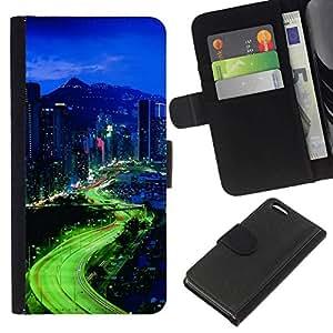 All Phone Most Case / Oferta Especial Cáscara Funda de cuero Monedero Cubierta de proteccion Caso / Wallet Case for Apple Iphone 5C // City Lights