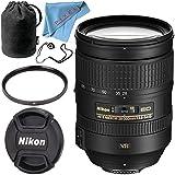 Nikon AF-S NIKKOR 28-300mm f/3.5-5.6G ED VR Lens + 77mm UV Filter + Fibercloth + Lens Capkeeper Bundle