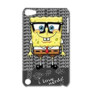 SpongeBob SquarePants Cute Personalized Custom Cartoon Snap-on hard 3D Case Cover for IPod Touch 5