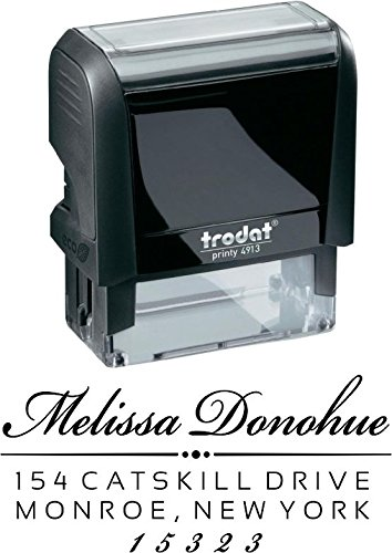Custom Address Stamp - Self Inking - Return Address Stamp - Black Ink - Custom Address Stamp