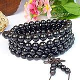 6mm*108 High Quality Vietnamese Black Sandalwood Tibet Buddhist Prayer Beads