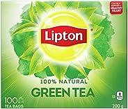 Lipton Green Tea for a refreshing and uplifting sensation 100% Rainforest Alliance Certified 200 g 100 tea bag