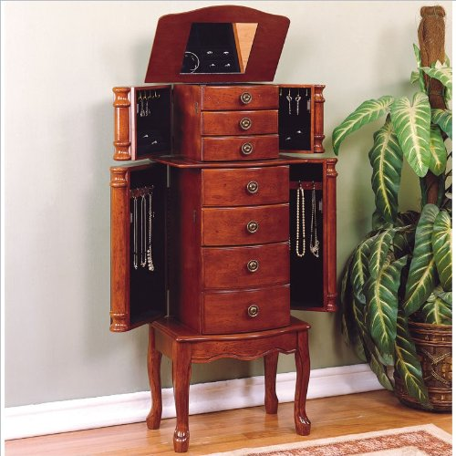 Powell ''Classic Cherry'' Jewelry Armoire by Powell Furniture