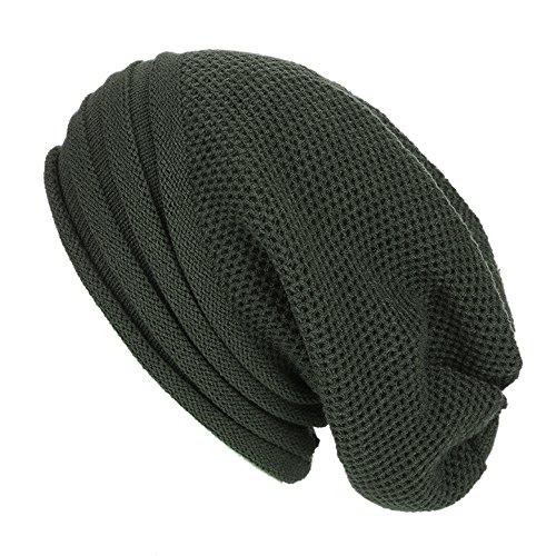 Blackhawk Army Glove (Baomabao Winter Hat Men Women Wool Knit Ski Beanie Skull Slouchy Caps Baggy Warm Crochet Winter Hat (Army Green))