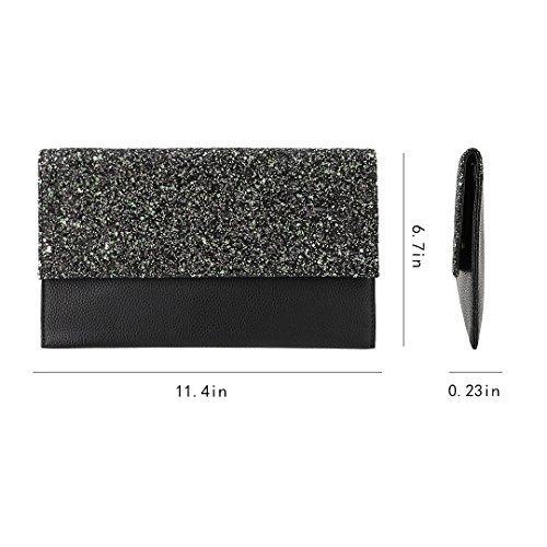 Pochette noir noir femme taille pour unique Noir 90S 7HBqdx