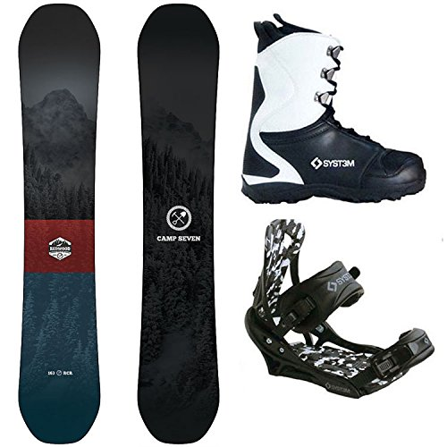 Camp Seven Redwood and APX Men's Complete Snowboard Package New 2018