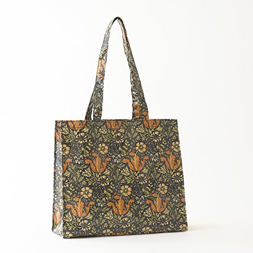 Licensed Handle Bag PVC William Morris Compton Tote Oilcloth Long rq4Srx