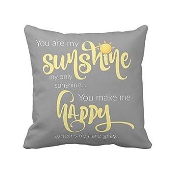 Amazon.com: Leaveland 18 x 18 inch You Are My Sunshine ...