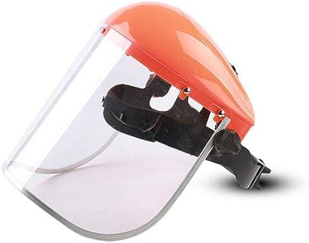 Protector Facial Ajustable M/áScara Protectora Gruesa Antisalpicaduras con Casco para Profesionales como Laboratorio De Qu/íMica De Construcci/óN De Soldadura