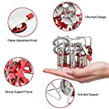 Openuuye Camping Stove, 3 Burners Stove Strong Power High Thermal Efficiency Foldable Travel Stove Camping Picnic Outdoor Activities