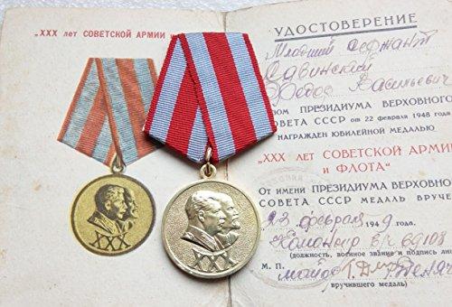 30 Years of the Soviet Army & NAVY WW II Original USSR Soviet Union Russian Military medal Savinskiy