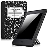 Fintie Origami Case for Kindle Paperwhite - The Thinnest and Lightest PU Leather Cover for All-New Amazon Kindle Paperwhite (Fits All versions: 2012, 2013, 2015 and 2016 New 300 PPI), Composition Book