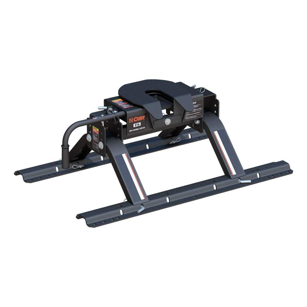 CURT 16116 E16 5th Wheel Hitch with Base Rails