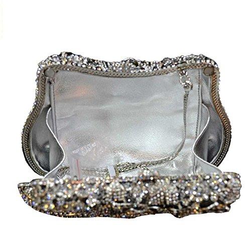 Des Silver De Soirée à Mode Sac Diamant Main Luxe De Femmes Sac 5PSxRq1wP