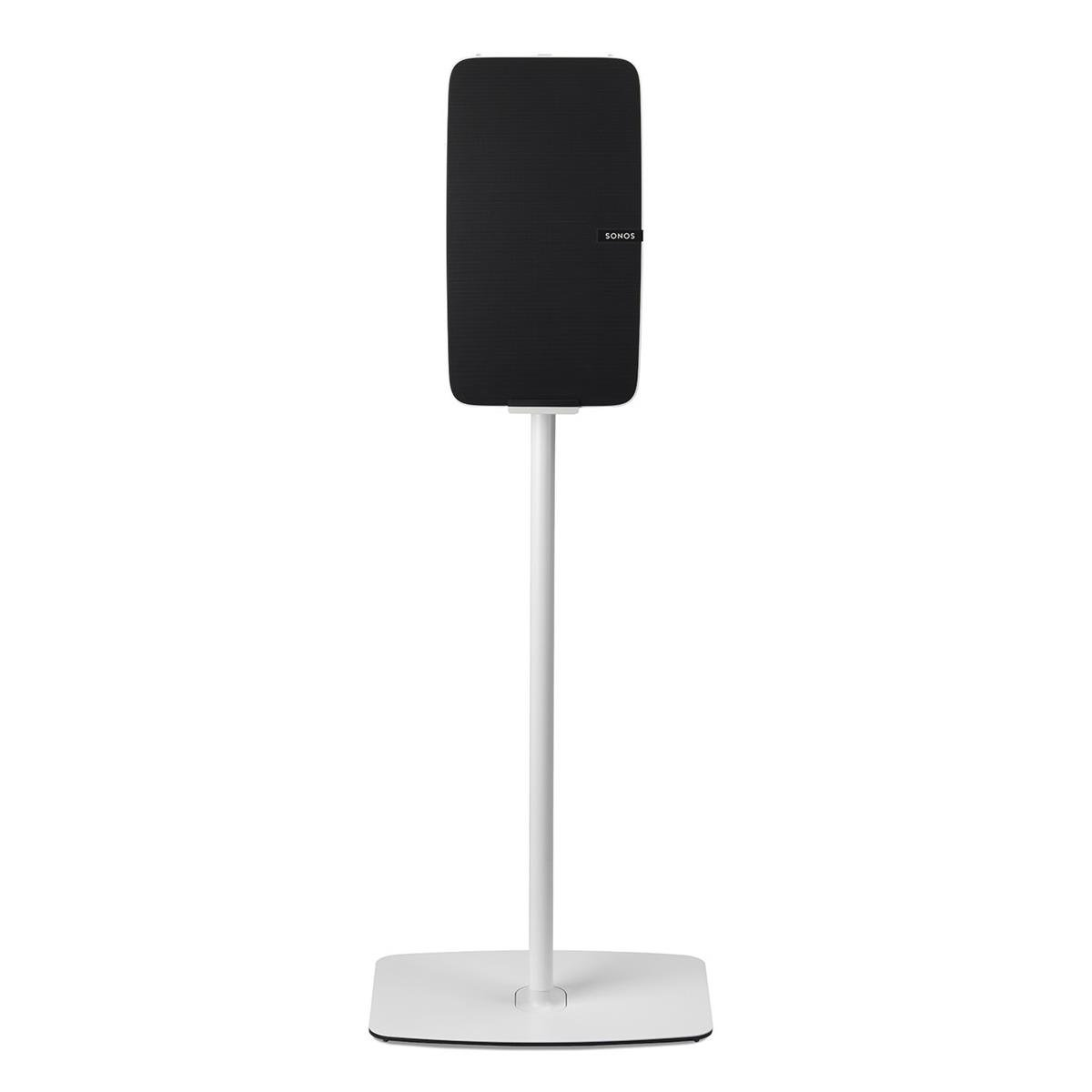 Flexson Floorstand for Sonos Play:5 Gen 2 in White (Vertical, Single) by Flexson