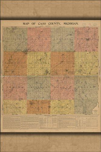 16x24 Poster; Map Cass County, Michigan 1897