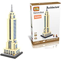 YouCute Loz Micro Blocks,empire state building, Small Building Block Set, Nanoblock Compatible (910 pcs)