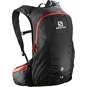 Salomon Trail 20 Backpack, Black/Red
