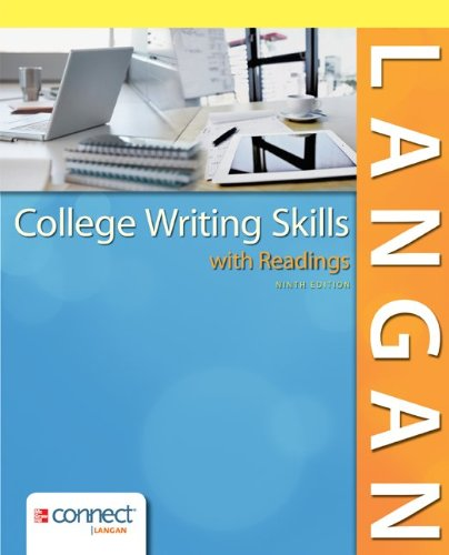 College Writing Skills With Readings W/ Connect Writing Plus 3.0 Access Card