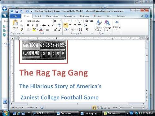 The Rag Tag Gang: America's Zaniest College Football Game -- Ga. Tech 222, Cumberland - Atlanta Cumberland Ga