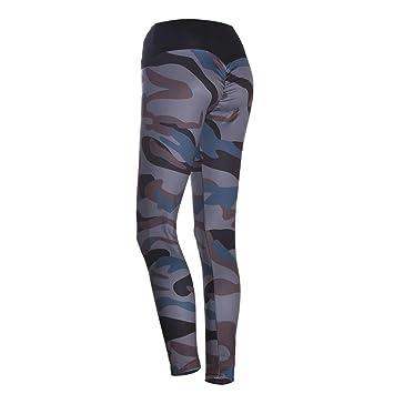 Ruikey Pantalones De Camuflaje Impresos para Mujer Leggings ...