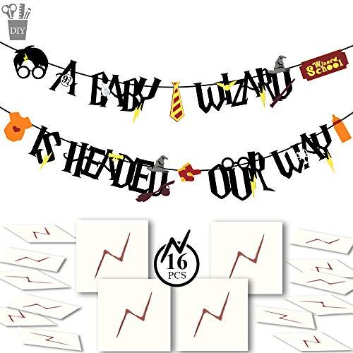 YoHold Baby Shower Banner and Lightning Bolt Tattoos