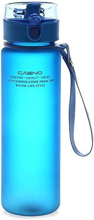 SinceY Botella de Agua de Deporte portátil congelado bidones antifugas Reutilizable Tritan plástico sin BPA Gran Capacidad 560 ML Gym Camping Ciclismo Running Senderismo Las Actividades de Plein Air: Amazon.es: Hogar