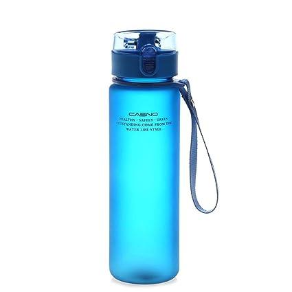 SinceY Botella de Agua de Deporte portátil congelado bidones antifugas Reutilizable Tritan plástico sin BPA Gran