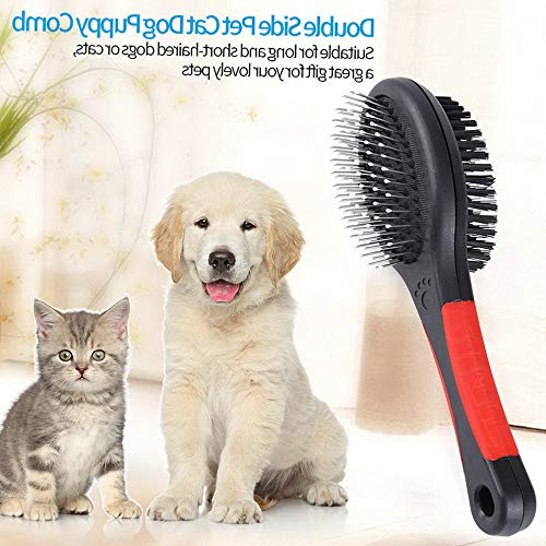 Werrox New Double Faced Pet Dog Comb Long Hair Brush Puppy Cat Massage Bath Brush Tool | Model HRBRSH - 1250 | L ()