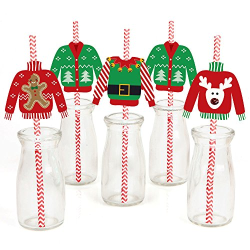 Ugly Sweater Paper Straw Decor