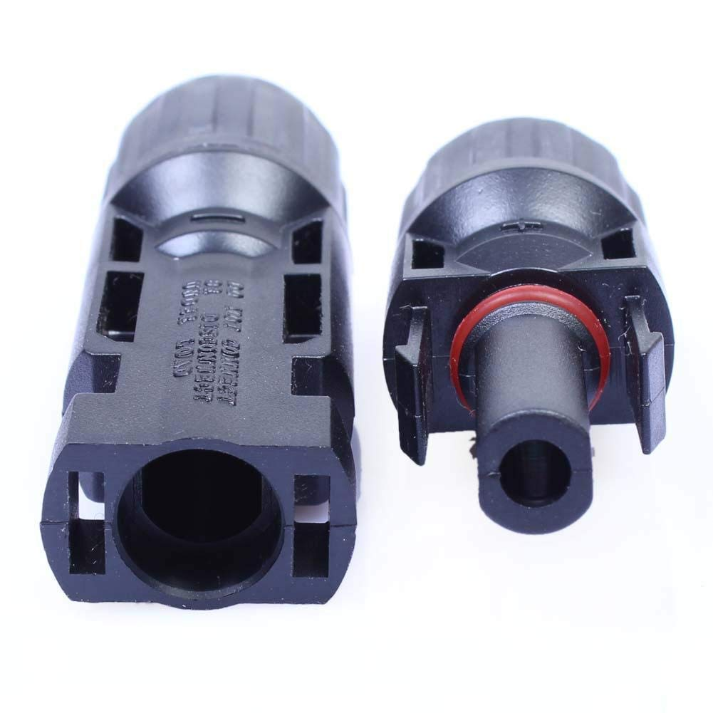 Zcomer MC4 Adapter Waterproof Male//Female Wire Cable Solar Panel Connector Plug MC4 Connector MC4 Adaptor Parallel Connection
