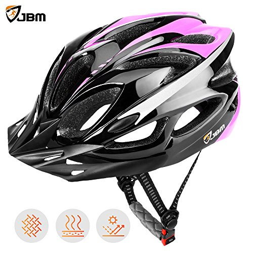 JBM Adult Cycling Bike Helmet Specialized for Mens Womens Safety Protection CPSC Certified - Black / Blue / Red / Yellow Image