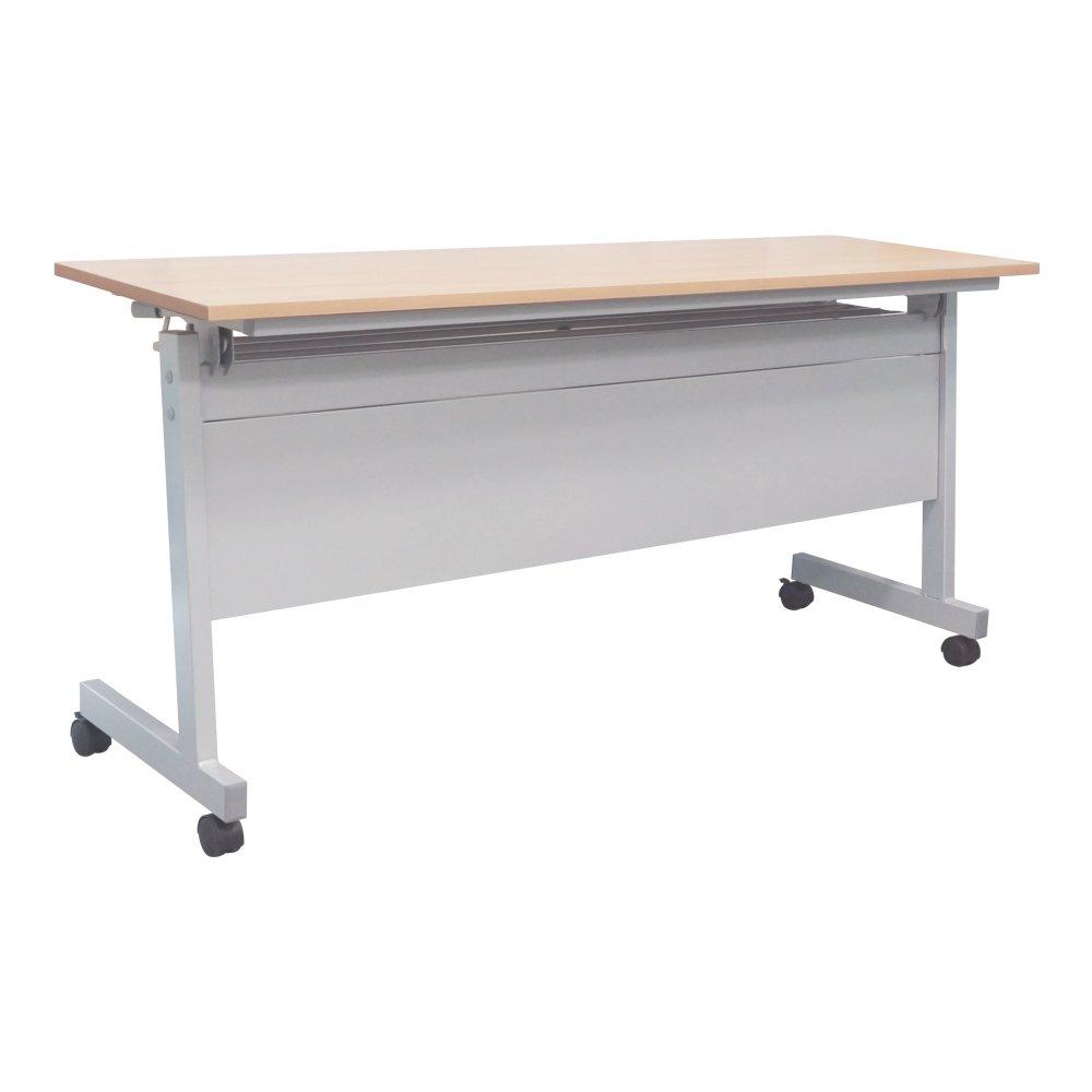 カグクロ スタッキングテーブル 幕板付き 長机 W1800×D450×H700 メープル 会議テーブル TF-1845-P-MP B0087VCXTKメープル